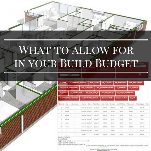 home building budget