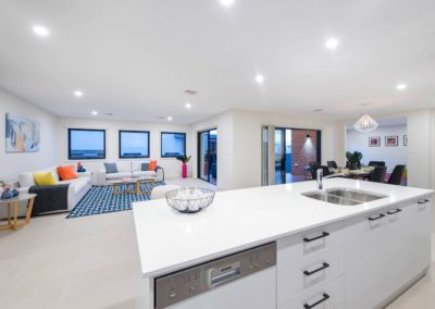 open plan living design